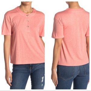 Abound Coral Faded Heathered Short Sleeve Medium